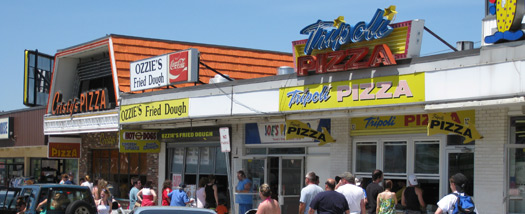 Food establishments at Broadway in Salisbury Beach